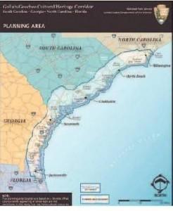 Gullah Geechee Cultural Heritage Corridor boundaries