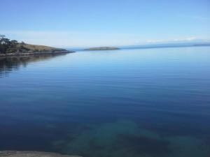View of Lopez Island shoreline, near Iceberg Point