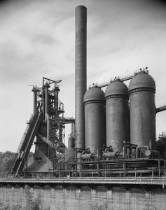 A view of Carrie Furnace #7 in 1989. Source: HAER