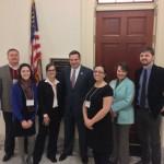 Members of the the North Carolina Delegation from University of North Carolina Greensboro during Advocacy Week 2013, pictured here with Representative Richard Hudson. Photo: Preservation Action