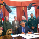 President Obama signs an Executive Order creating three new National Monuments. Photo: Whitehouse.gov