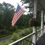 View of the Appalachian Trail from the porch of the Iron Masters Mansion now a hostel in Pine Grove Furnace State Park