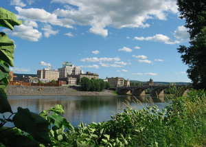 View of Wilkes-Barre, PA in the Delaware and Lehigh National Heritage Corridor.