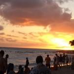 September Sunset Waikiki Beach Honolulu