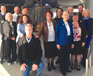 Advisory Board meeting at Independence National Historical Park, November 2016. Left to right: Stephen Pitti, Judy Burke, Paul Bardacke, Milton Chen, Lenore Blitz, Loran Fraser, Margaret Wheatley, Carolyn Finney, Rita Colwell, Jonathan Jarvis, Belinda Faustinos, Tony Knowles, Gretchen Long. Missing from photo: Linda Bilmes. Photo courtesy of Margaret Wheatley.