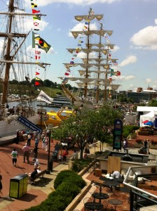 Numerous tall ships were docked along Baltimore's Inner Harbor during the June 2012 Star-Spangled Celebration commemorating the bicentennial of the War of 1812. Photo: Baltimore NHA