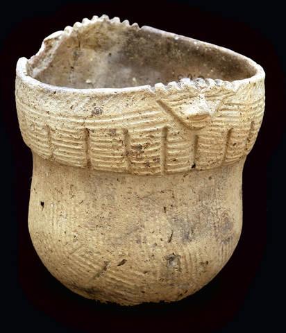 Pot from the Washington Boro site. Photo Courtesy State Musem of Pennsylvania.