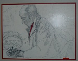 "A sketch by the mother of John Sinton author of the article ""Remembering JB Jackson"""
