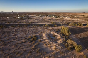 Adamsville preserves a high-walled, oval-shaped Hohokam ballcourt on its eastern margin. Photo by Henry D. Wallace.