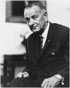 "In his 1964 State of the Union Address, President Lyndon B. Johnson proclaimed, ""This administration today, here and now, declares unconditional war on poverty in America. I urge this Congress and all Americans to join with me in that effort."""