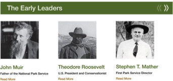 """The Early Leaders,"" from the National Park Service website."