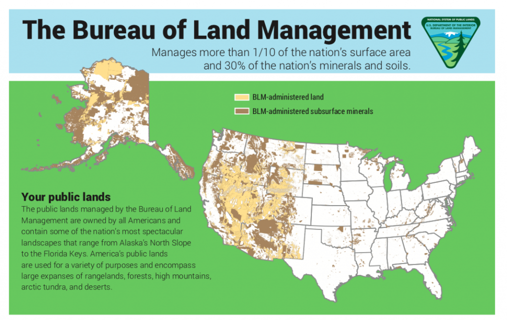 Infographic created by the BLM detailing the scope of its management responsibilities.